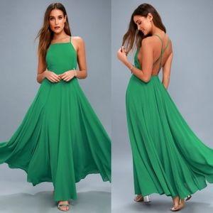 NWT Lulu Mythical Kind of Love Green Dress Medium
